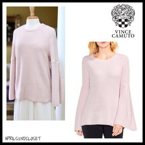 VINCE CAMUTO BLUSH PINK PULLOVER TUNIC SWEATER